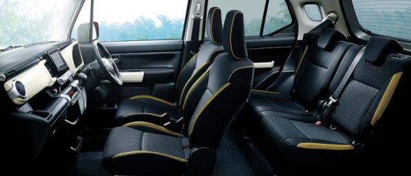 クロスビーハイブリッドMZのインテリア・車内空間