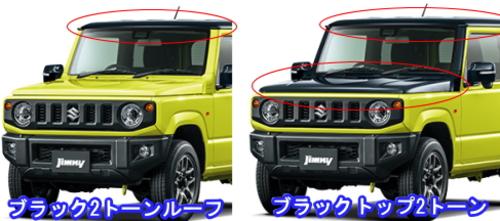 新型ジムニーの2トーンカラー