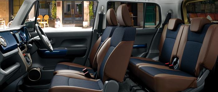 ハスラーJスタイルの車内空間