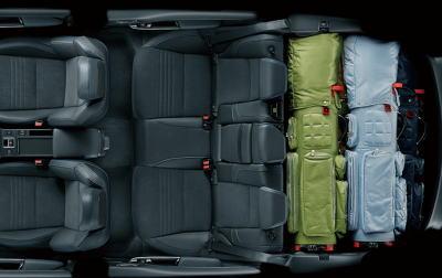 レヴォーグの荷室サイズ・5名乗車