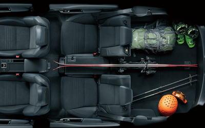 レヴォーグの荷室サイズ・4名乗車