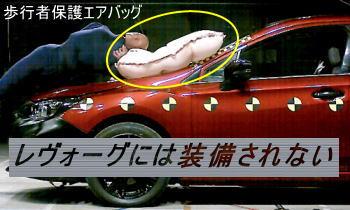 歩行者保護エアバッグ