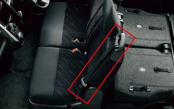 シートベルトの位置