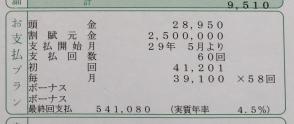 残価設定5年・タンク