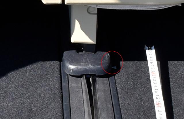 サードシートの標準位置