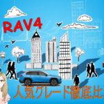 RAV4の人気グレードの比較!リセールバリューから見るおすすめグレードは?