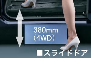 エスクァイア4WDのスライドドア部分のフロア高