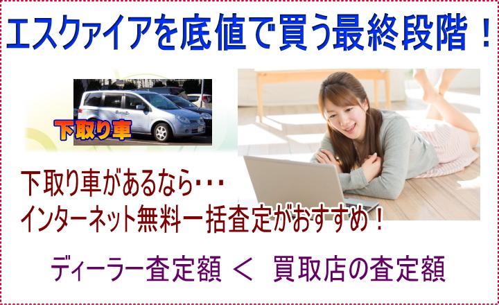 エスクァイアを誰よりも安く買う最終段階!下取り車のインターネット無料一括査定