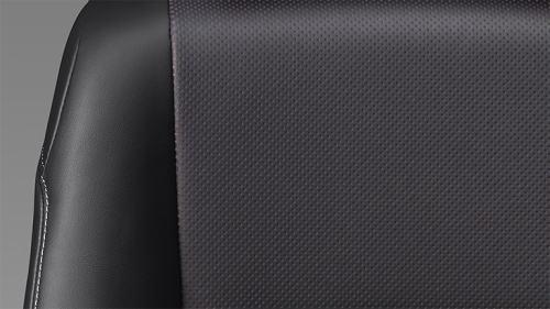 エスクァイアのシート表皮(バーガンディ&ブラック)