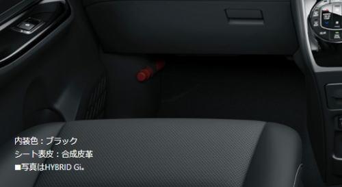 エスクァイアのシート表皮(ブラック)