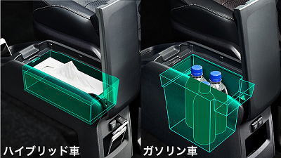 小物入れ(ハイブリッド車andガソリン車)