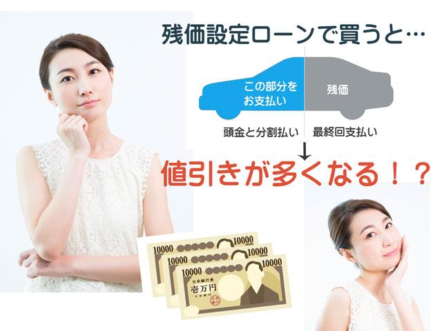 カローラフィールダーを残価設定クレジットで買うと値引きが多くなる!?
