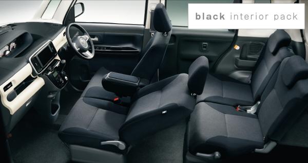 ムーヴ キャンバスの内装色「ブラックインテリアパック」