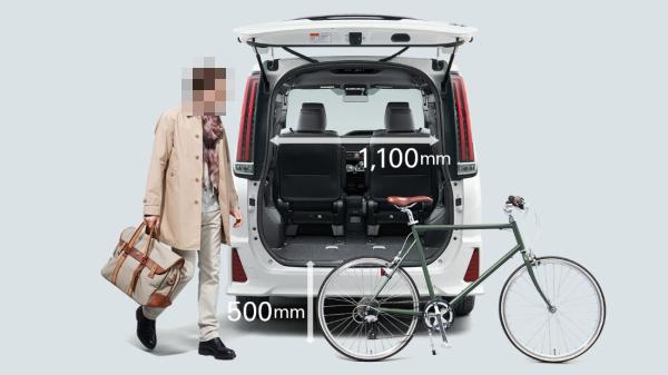 ノアの荷室サイズ、横幅1100mm