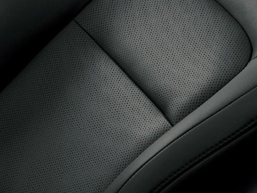 ランドクルーザーZXのプレミアムナッパ&人工皮革シート表皮(ブラック)
