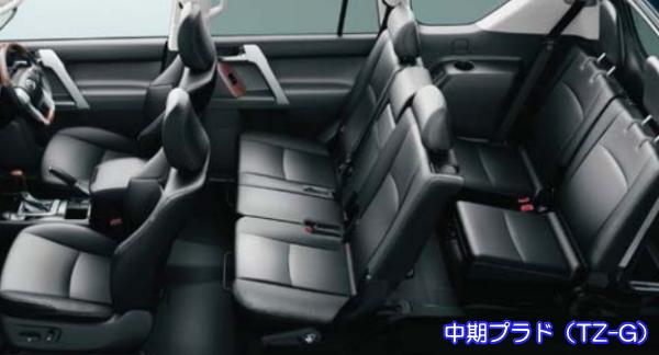 中期プラドの車内空間