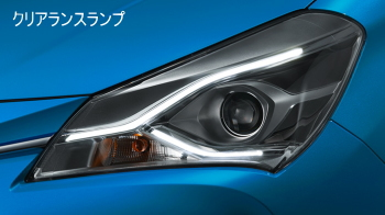 Bi-Beam LED(オートレベリング機能付・スモークメッキ加飾)+LEDクリアランスランプ
