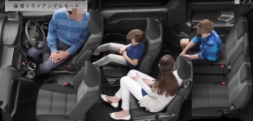 ヴォクシーの7人乗りシート
