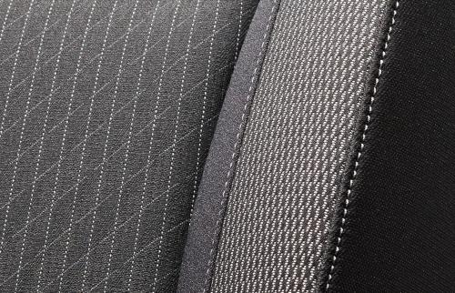 フィットのシート表皮・デザイン〇ハイブリッドS(ブラック×グレーライン)