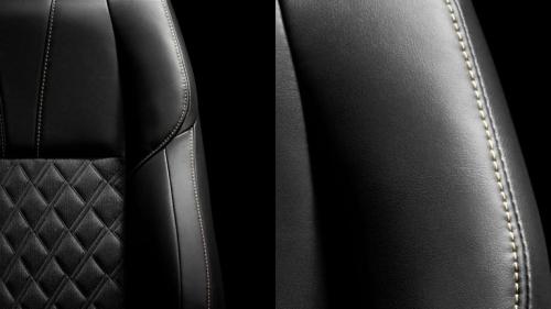 ハリアーのシート表皮(ブラック色のファブリック&合成皮革)
