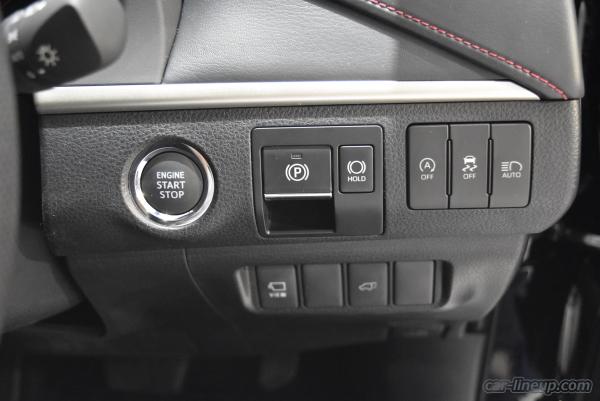 ハリアーの運転席右側のスイッチパネル