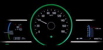 シャトル4WDの燃費イメージ(メーター)