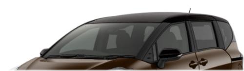 シエンタのボディカラー・ブラウン×ブラック