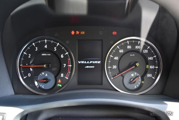 ヴェルファイアの4WDのオープニング画面