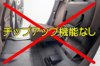 N-WGNには座面を跳ね上げるチップアップ機能が装着されていません(大事な事なので2回言いました)。