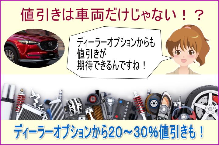 CX-5のディーラーオプションからの値引きが期待できる!