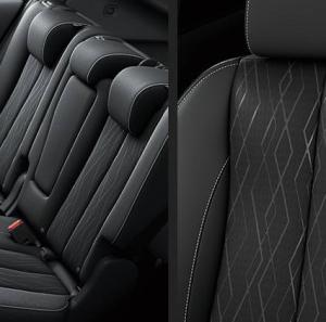 新型エクリプスクロスGのシート表皮は、ファブリック(布地)