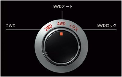 デリカD5のドライブモードセレクター