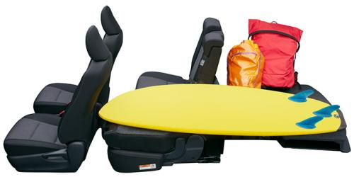 シエンタの5人乗りのシートアレンジ ハーフラゲージモード(最大3人乗車)