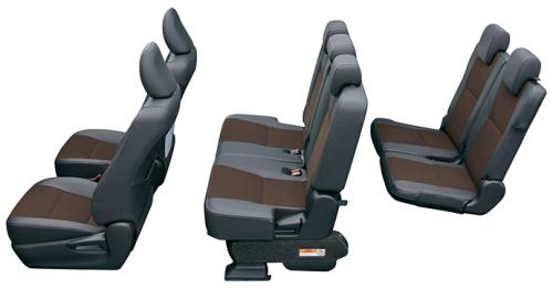 シエンタの6・7人乗りのシートアレンジ ノーマルモード(最大6~7人乗車)