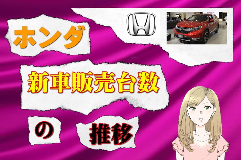 ホンダの新車販売台数の推移