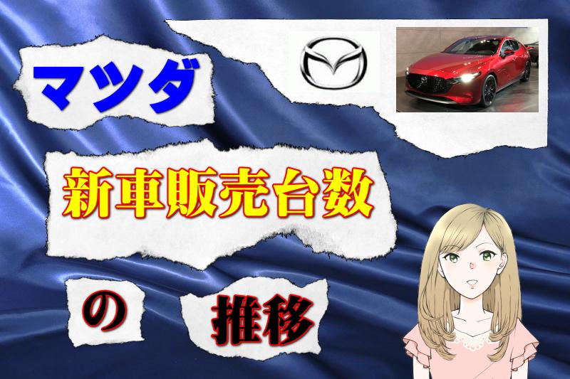 マツダの新車販売台数の推移