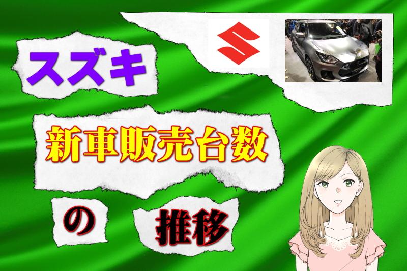 スズキの新車販売台数の推移