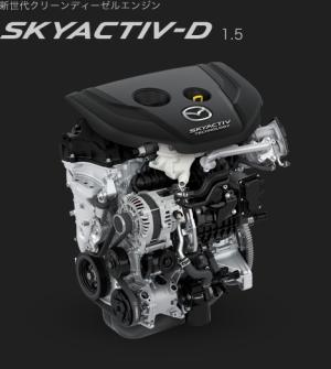 デミオのエンジンイメージ