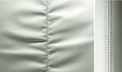 エルグランドホワイトレザーアーバンクロムのシート表皮