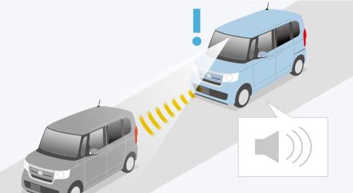NBOXの自動ブレーキ イメージ図