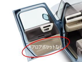 助手席スーパースライドシート仕様のデメリット ドアロアポケットがない。