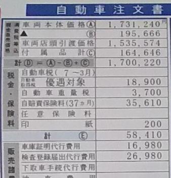 NBOX値引き額