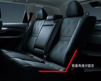 エクストレイルのハイブリッド車にはスライド・リクライニング機能が無い