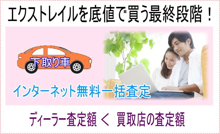 エクストレイルを誰よりも安く買う最終段階!下取り車をインターネット無料一括査定してもらおう