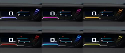 フリードのメーター照明色は6色から選べる