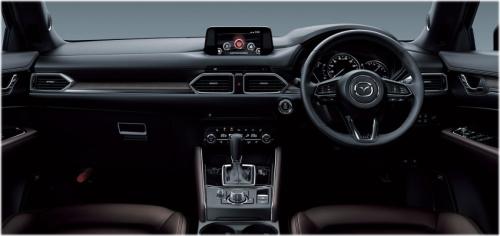 特別仕様車・エクスクルーシブ モード(Exclusive Mode)のディープレッド内装・インパネ回り