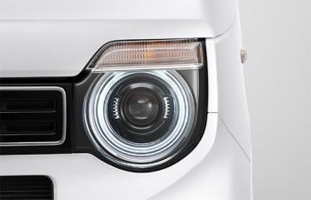 N-WGNのLEDヘッドライト