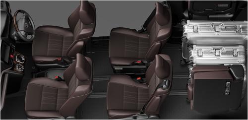 エスクァイアの7人乗りのシートアレンジ・ラゲージモード
