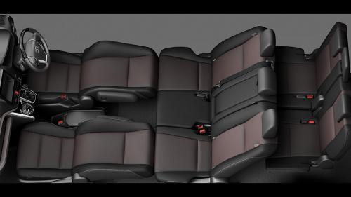 エスクァイアの8人乗りのシートアレンジ・フロントフラットソファモード