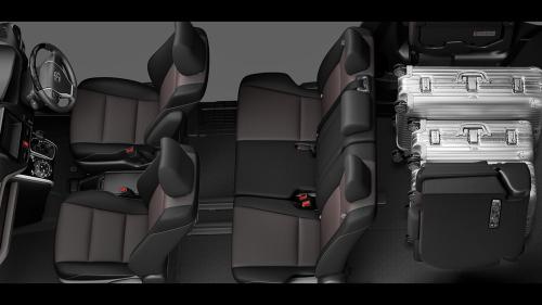 エスクァイアの8人乗りのシートアレンジ・ラゲージモード
